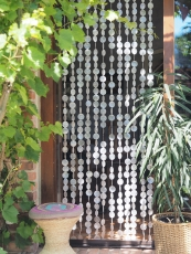 Exotic shell curtain made of capiz, wind chime, room divider, doo..