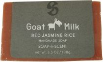 Handgemachte Ziegenmilch Seife, 100 g Fair Trade - Red Jasmin Ric..