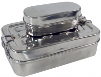 Stainless steel bread box, breakfast box, lunch box, Vesperbox 2è..