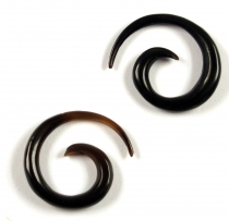Horn Earring Stretch Spiral, Triba Spiral, Tunnel