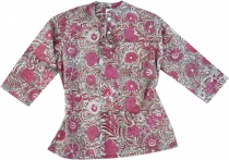 Indian girls tunic, children tunic - fucsia/grey