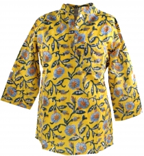 Indian girls tunic, children tunic - yellow