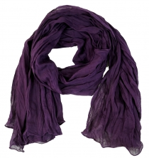 Indian cotton scarf, scarf, Krinkel scarf - purple