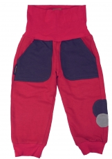 Children pants, pants with wax, pumph pants - red