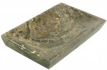 Marble soap dish, Zen dish for the washstand - grey