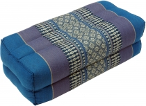 Meditation cushion, Thai neckrest square with kapok - turquoise