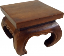 Mini opium table, flower bench made of solid wood - brown 25*25 c..