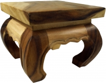 Mini opium table, solid wood flower bench - natural colour 25*25 ..