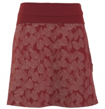 mini skirt, boho circle skirt autumn leaves print organic - berry