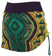 Mini skirt, Dashiki Yogarock - lemon