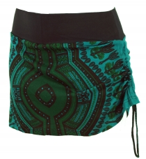 Mini skirt, Dashiki Yogarock - petrol