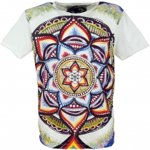Mirror T-Shirt - Mandala/white