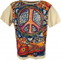 Mirror T-Shirt - Peace/beige