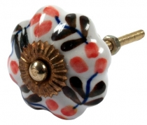 Furniture Knob Rose Ceramic - 25