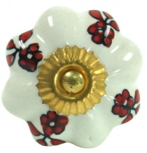 Furniture Knob Rose Ceramic2