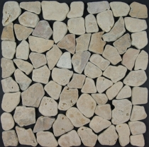 Mosaic tiles in sand-coloured marble (S-04) - Design 4