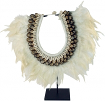 Shell and feather decoration with stand, Room decoration