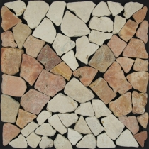 Sample marble mosaic tile (Mo-04) - Design 17