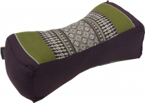Neck cushion, neck support Thai pillow Kapok - black/green/grey