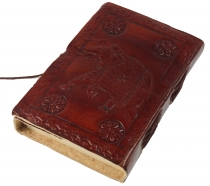 Notebook, leather book, diary cover `Elephant` 9*12 cm