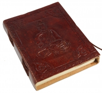 Notebook, leather book, diary cover `Budha` 12*15 cm