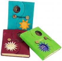 Notebook made of Lokta paper in 3 colours
