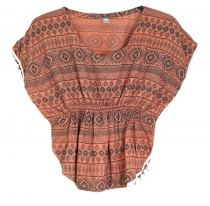 Poncho, girl`s blouse, tunic - salmon