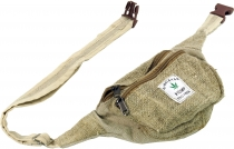 Practical hemp fanny pack, ethnic fanny pack, sidebag - natural