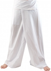 Thai fishing trousers made of viscose, slightly falling fabric, w..
