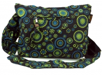 Sadhu Bag, Shopper, small shoulder bag - black/lemon