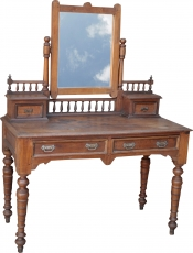 Dressing table with 2 drawers and mirror (JH3-DC050)