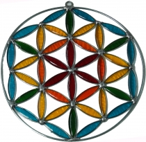 Suncatcher - flower of life colorful