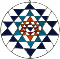 Suncatcher - Yantra blue
