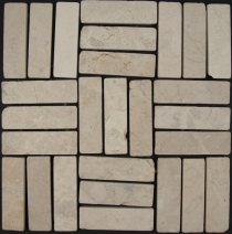 Strips mosaic tiles in marble (P-05) - Design 12