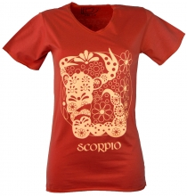 star sign T-Shirt `Scorpion` - orange