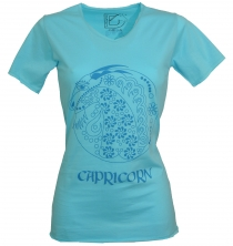 star sign T-Shirt `Capricorn` - turquoise