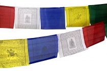 1 piece of prayer flags (Tibet) with 25 pennants in different len..