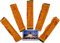 Prayer flags (Tibet) 5 pieces economy pack prayer flags in differ..