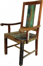 Chair with Recycle wood armrest in Vintgage Design - Model 14