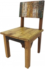 Chair made of recycled teak - model 3