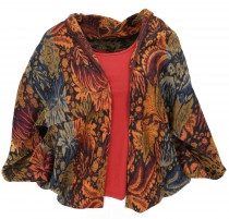 Cocoon cardigan, open jacket in oversized form - turmeric/colorfu..