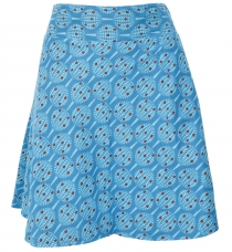 reversible skirt, Boho mini skirt - dark grey/blue