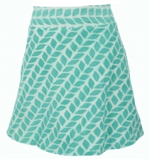 reversible skirt, Boho mini skirt - orange/green