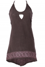 Boho longtop, top with great back - brown