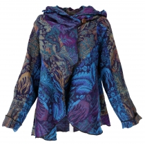 Cape, Wrap Jacket Boho chic - turquoise/purple