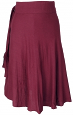 Light wrap skirt, Boho summer skirt - bordeaux red