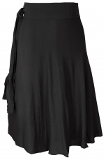 Light wrap skirt, Boho summer skirt - black