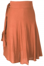 Light wrap skirt, Boho summer skirt - rusty orange