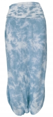 Long Boho divided skirt, bati skirt - blue