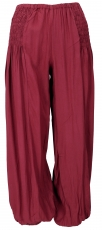 Airy Muck trousers, Boho harem pants, bloomers - bordeaux red